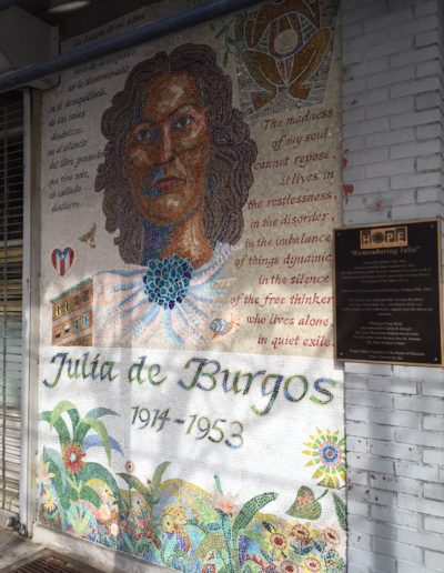 Julia de Burgos mosaic